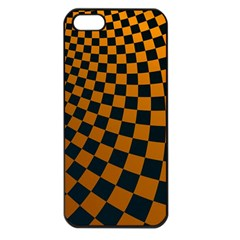 Abstract Square Checkers  Apple iPhone 5 Seamless Case (Black)