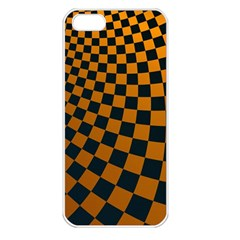 Abstract Square Checkers  Apple iPhone 5 Seamless Case (White)