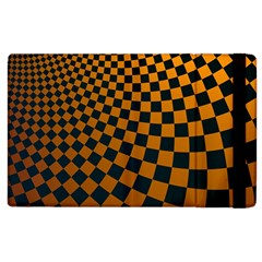 Abstract Square Checkers  Apple Ipad 2 Flip Case