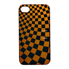 Abstract Square Checkers  Apple Iphone 4/4s Hardshell Case With Stand