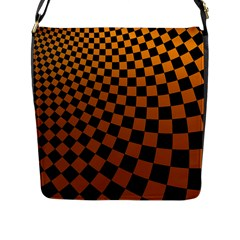 Abstract Square Checkers  Flap Messenger Bag (L)