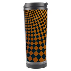 Abstract Square Checkers  Travel Tumblers