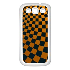 Abstract Square Checkers  Samsung Galaxy S3 Back Case (white)