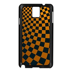 Abstract Square Checkers  Samsung Galaxy Note 3 N9005 Case (Black)