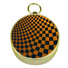 Abstract Square Checkers  Gold Compasses