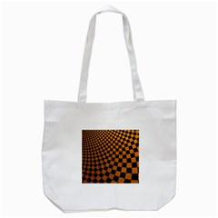 Abstract Square Checkers  Tote Bag (White)