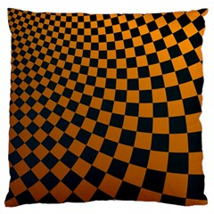 Abstract Square Checkers  Large Flano Cushion Cases (One Side)