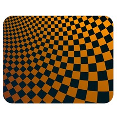 Abstract Square Checkers  Double Sided Flano Blanket (Medium)