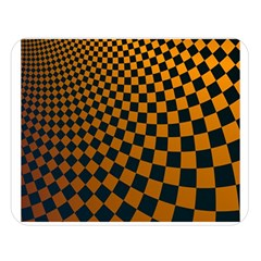 Abstract Square Checkers  Double Sided Flano Blanket (large)