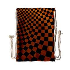 Abstract Square Checkers  Drawstring Bag (Small)
