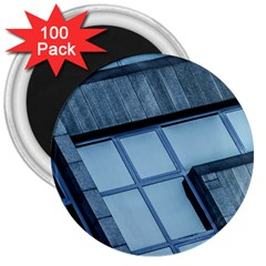 Abstract View Of Modern Buildings 3  Magnets (100 pack)