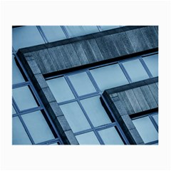 Abstract View Of Modern Buildings Small Glasses Cloth