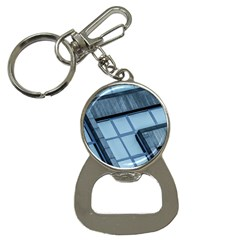 Abstract View Of Modern Buildings Bottle Opener Key Chains