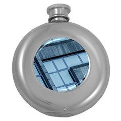 Abstract View Of Modern Buildings Round Hip Flask (5 oz)