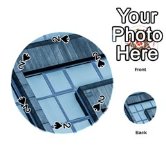 Abstract View Of Modern Buildings Playing Cards 54 (round)