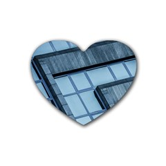 Abstract View Of Modern Buildings Rubber Coaster (heart)