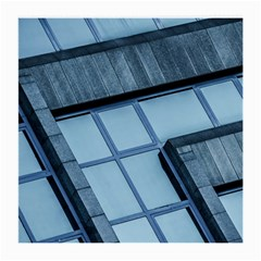 Abstract View Of Modern Buildings Medium Glasses Cloth