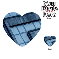Abstract View Of Modern Buildings Multi-purpose Cards (Heart)
