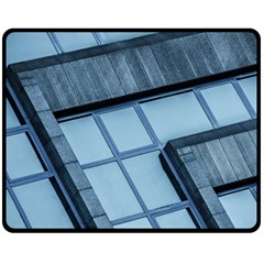 Abstract View Of Modern Buildings Fleece Blanket (medium)