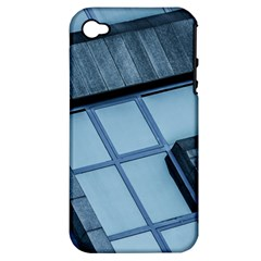 Abstract View Of Modern Buildings Apple iPhone 4/4S Hardshell Case (PC+Silicone)