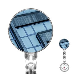 Abstract View Of Modern Buildings Stainless Steel Nurses Watches