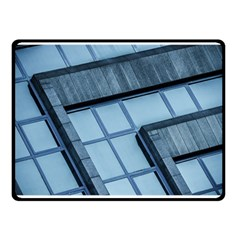 Abstract View Of Modern Buildings Double Sided Fleece Blanket (small)