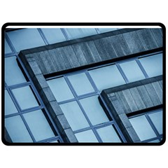 Abstract View Of Modern Buildings Double Sided Fleece Blanket (large)