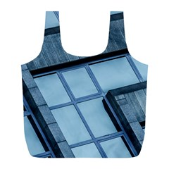 Abstract View Of Modern Buildings Full Print Recycle Bags (l)