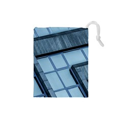 Abstract View Of Modern Buildings Drawstring Pouches (Small)