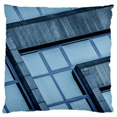 Abstract View Of Modern Buildings Large Flano Cushion Cases (One Side)