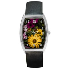 Beautiful Colourful African Daisies  Barrel Metal Watches
