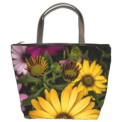 Beautiful Colourful African Daisies  Bucket Bags