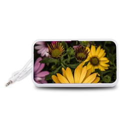 Beautiful Colourful African Daisies  Portable Speaker (White)