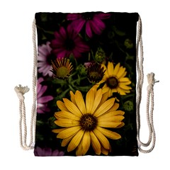 Beautiful Colourful African Daisies  Drawstring Bag (Large)