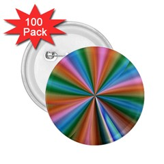 Abstract Rainbow 2.25  Buttons (100 pack)