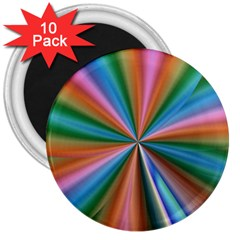 Abstract Rainbow 3  Magnets (10 pack)