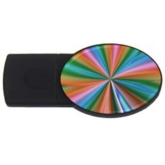 Abstract Rainbow USB Flash Drive Oval (1 GB)