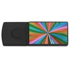 Abstract Rainbow USB Flash Drive Rectangular (2 GB)
