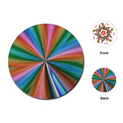 Abstract Rainbow Playing Cards (Round)