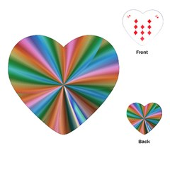 Abstract Rainbow Playing Cards (heart)