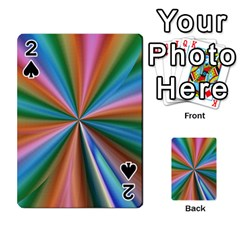 Abstract Rainbow Playing Cards 54 Designs