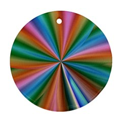 Abstract Rainbow Round Ornament (two Sides)