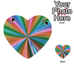 Abstract Rainbow Playing Cards 54 (heart)