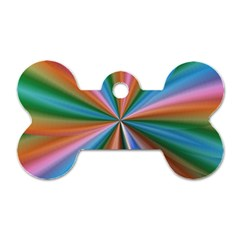 Abstract Rainbow Dog Tag Bone (One Side)
