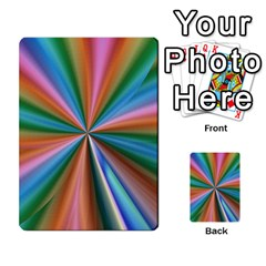 Abstract Rainbow Multi Purpose Cards (rectangle)