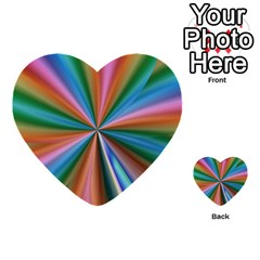 Abstract Rainbow Multi Purpose Cards (heart)