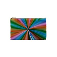 Abstract Rainbow Cosmetic Bag (Small)