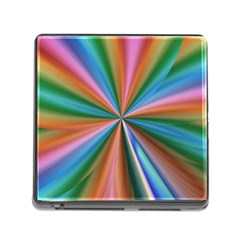 Abstract Rainbow Memory Card Reader (Square)