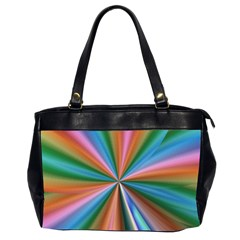 Abstract Rainbow Office Handbags (2 Sides)