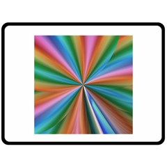 Abstract Rainbow Fleece Blanket (large)